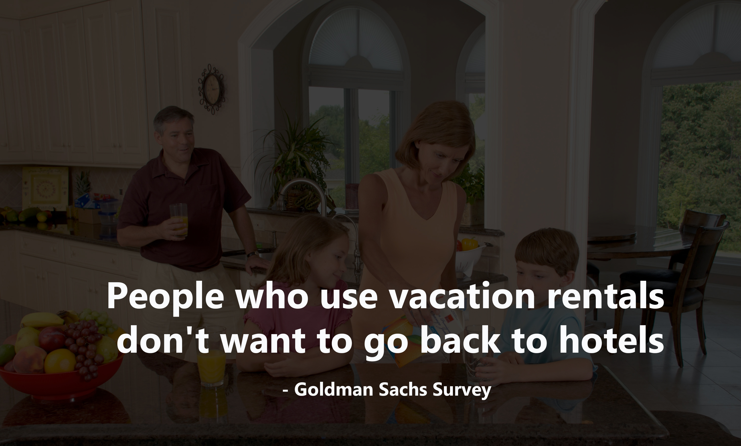 The survey says people Who use Airbnb don't want to go back to hotels.